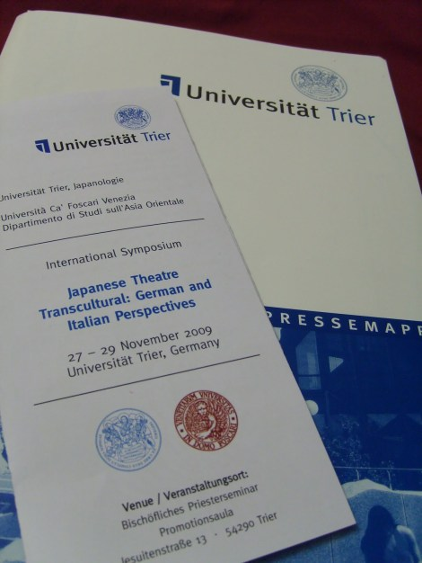 Some reflections on the Symposium Japanese Theatre Transcultural